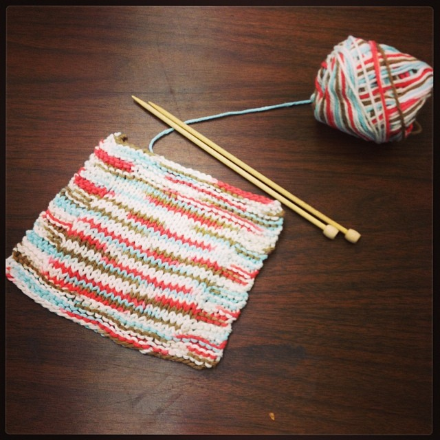 Finished_my_first_knitting_project_a_washcloth.